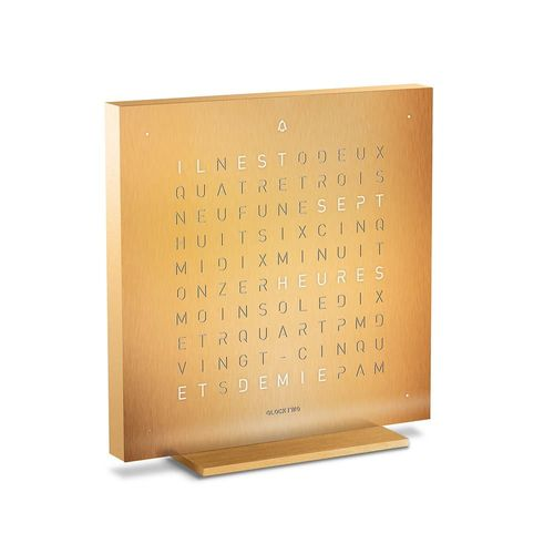 Qlocktwo Touch Gold